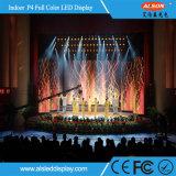 Hohe Auflösung-InnenP4 farbenreicher Mietbildschirm LED Fernsehapparat