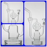 Стеклянный круг совершенное стекло Boro стеклянной воды буровой вышки Perc печенья трубы водопровода и Recycler толщиное