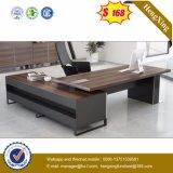 Table de bureau de bureau de MDF en mélamine en noyer noir (HX-FCD084)
