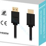 2.0V Mannetje 1080P aan de Mannelijke Kabel van de Hoge snelheid HDMI voor HDTV