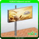 Publicidad de la cartelera puesta a contraluz LED al aire libre de la calle de la tablilla de anuncios