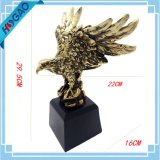 Wings of Glory Figurino galvanizado de bronze de águia careca com estátua de resina base