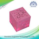FMの無線機能のピンクの立方体の携帯用拡声器