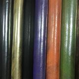 Couro de imitação do PVC do plutônio da alta qualidade a mais nova do projeto 2017 para as sapatas (E6084)