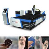 Maquinaria del corte del laser de la fibra del metal de hoja del CNC con precio de fábrica