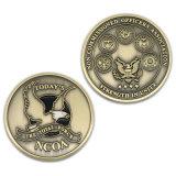 Pièce de monnaie militaire de souvenir d'or antique pour le cadeau