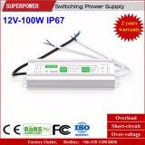 Fuente de alimentación impermeable constante de la conmutación del voltaje 12V 100W LED IP67