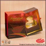 Rectángulo rígido con estilo modificado para requisitos particulares del perfume de la cartulina de la característica hecha a mano
