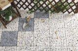 屋外の連結のフロアーリングの自然な石DIYのTravertineの平板のモザイク庭のタイル