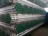 Tubo d'acciaio galvanizzato tuffato caldo di BS1387 ASTM A53 con le protezioni della plastica e dell'estremità filettata