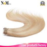 Clip principal lleno en el clip blanco rubio más ligero de las extensiones 140g 180g 220g 260g del pelo en la extensión del pelo