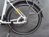 700c白いシリーズアルミ合金フレーム36Vの電気バイク(JSL033A-1)