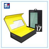 Custom negro magnético de lujo de cartón de papel de embalaje caja de embalaje
