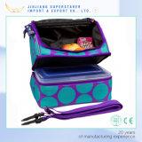 As camadas dobro do PONTO azul da forma personalizam o saco do almoço para a escola