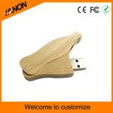 USB Pendrive Twister привода вспышки USB шарнирного соединения деревянный с вашим логосом