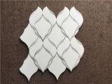 Mosaicos del mármol del jet de agua blanca de Thassos