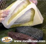 液体のシリコーンゴムを作る石造り型