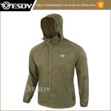 Color Gris Esdy Skin Ultra-Thin Respirable impermeable del sol Ropa