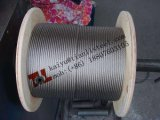 A4 1.4401 316 7X7 En12385-4 기준을%s 가진 1.5mm 단련된 스테인리스 철사 밧줄