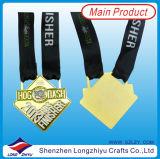 一義的なスポーツメダル金の銀の銅メダル
