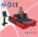La machine de découpage efficace de laser de fibre d'acier inoxydable
