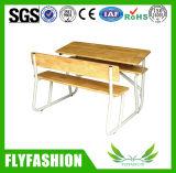 معلنة إطار [سيلد] خشبيّة مزدوجة مكتب وكرسي تثبيت لأنّ مدرسة