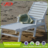 Outdoor Chaise Lounge Chair 100% Polywood Muebles de exterior en blanco