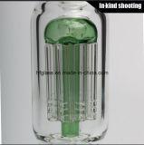 Glasbaum-Arm-Bienenwabe Perc Glasölplattform Shisha des wasser-Rohr-8 starkes Rauchen im auf lagerHuka-Hand durchgebrannten unbesonnenen Tabak-Trinkwasserbrunnen Großhandels