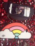 Caja caliente del silicón del arco iris de la historieta para iPhone6