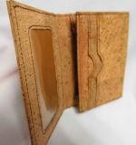 Nueva bolsa de la tarjeta de visita del cuero del corcho de los diseños, bolsa de la tarjeta de /Name (D57)