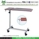 贅沢な病院ICUのベッドによって使用される病院のベッドサイド・テーブルの調節可能な高さの食堂テーブルの価格