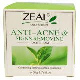 Anti-Acne & sinais do cuidado de pele do zelo que removem o creme de face