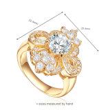 숙녀 (R-0400)를 위한 매력적인 투명 감람석 925 순은 반지