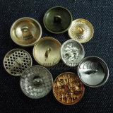 Tipos de ouro Botão de costura de metal para os uniformes de casaco