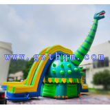 Design Funny Adult Size Giant Glissade gonflable avec piscine / Outdoor Green Slide