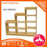 Kinder Movable Shelf Log Wood Cabinet für Preschool