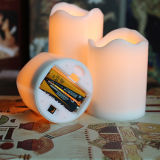 جديدة أسلوب 3 محدّد متموّج بلاستيك [لد] شمعة مع [يلّوو ليغت]