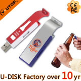 Mecanismo impulsor promocional del flash del USB del metal del sacacorchos del abrelatas de botella del regalo