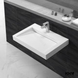 Corianの現代固体表面の浴室は洗面器を壁ハングさせた