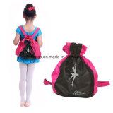 Танцулька кладет Backpack в мешки школы Drawstring плечевого ремня для мальчиков девушок малышей