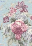 papier peint de vinyle gravé en relief par largeur large de 106cm avec la fleur