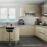 Oppein zeitgenössischer helle Farben-hölzerner Küche-acrylsauerschrank (OP15-A03)