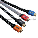 Braided кабель 1080P PVC HDMI экрана плоский