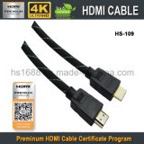 Fabricante novo de China do cabo do prêmio HDMI para o vídeo de HD