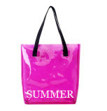 Promotion Clear PVC Candy Color Sac de plage Tote Bag à main