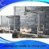 Grifo de cobre amarillo de calidad superior de la exportación del surtidor de China para la cocina