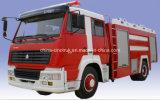 Équipement professionnel Camion de lutte contre l'incendie avec réservoir d'eau 10m3 + réservoir de mousse 2m3