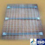 Painéis da plataforma do fio de aço, Decking do engranzamento de fio, trilhos da plataforma do fio para a cremalheira do armazenamento