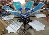 TM-R6 Rotary manual de 6 colores de la máquina de impresión de pantalla de la camiseta