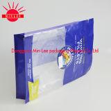El bolso inferior plano de /Square para el envasado de alimentos líquido se levanta la bolsa con el canalón